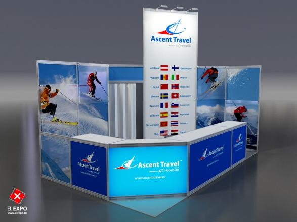 ASCENT TRAVEL - изготовление выставочных стендов в Самаре и Новосибирске