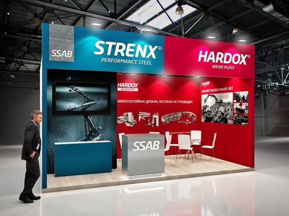 HARDOX - изготовление выставочных стендов в Самаре и Новосибирске