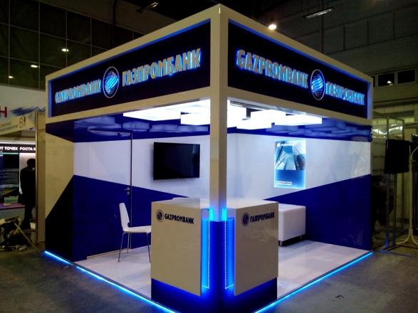 ГазПромБанк - изготовление выставочных стендов в Самаре и Новосибирске