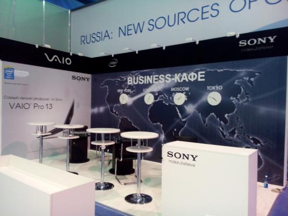 Сони - изготовление выставочных стендов в Самаре и Новосибирске