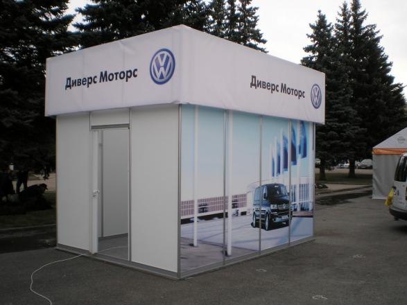 Фольксваген - изготовление выставочных стендов в Самаре и Новосибирске