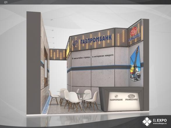 Газпром Банк - изготовление выставочных стендов в Самаре и Новосибирске