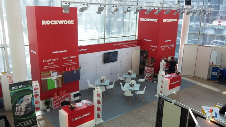Rockwool Минск - изготовление выставочных стендов в Самаре и Новосибирске