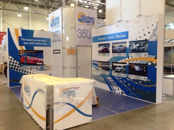 Solar Gard - изготовление выставочных стендов в Самаре и Новосибирске