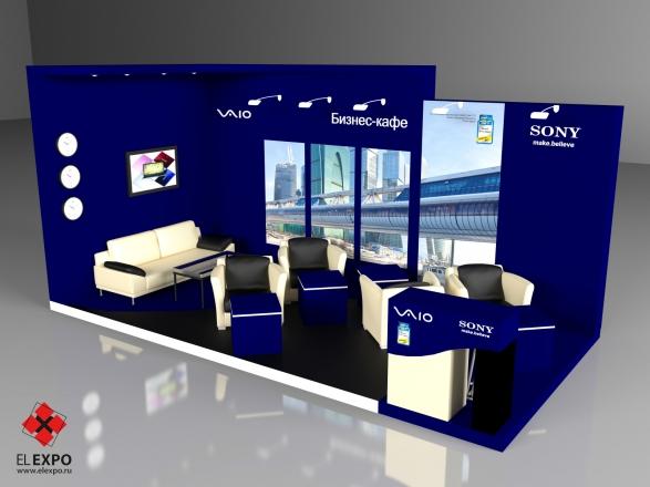 Sony - изготовление выставочных стендов в Самаре и Новосибирске