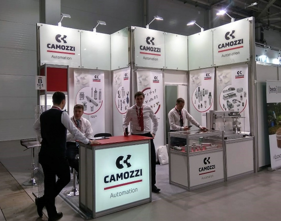 CAMOZZI - изготовление выставочных стендов в Самаре и Новосибирске