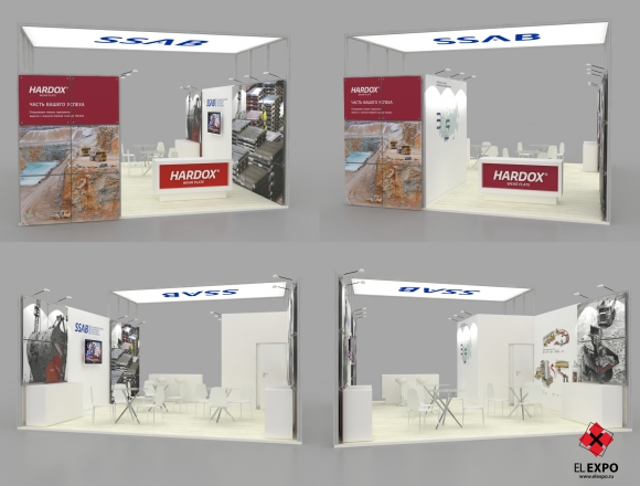 SSAB Новокузнецк - изготовление выставочных стендов в Самаре и Новосибирске