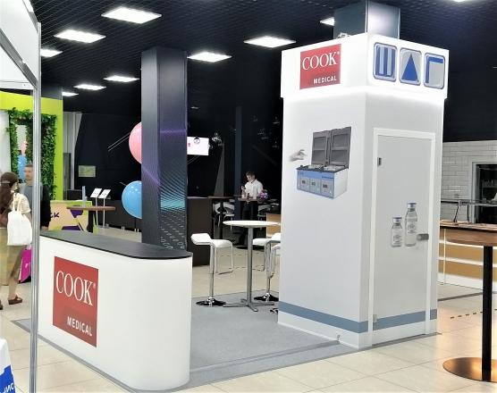 COOK MEDICAL - изготовление выставочных стендов в Самаре и Новосибирске