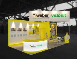 Выставочный стенд для Weber Vetonit