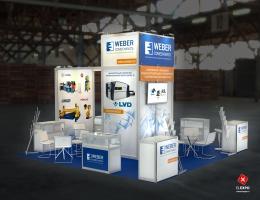 Выставочный стенд для Weber Comechanics